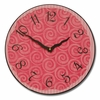 Swirly Hot Pink Kids Wall Clock