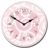 Swirly Pink Kids Wall Clock