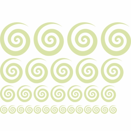 Swirly Swirls Set of 30 Wall Decal