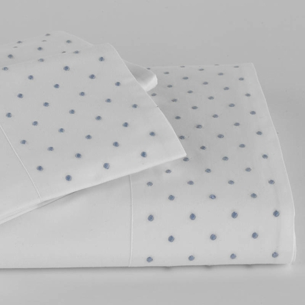 Swiss Dot Flanged Pillow