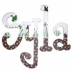 Syla's Nature Scene Hand Painted Wall Letters