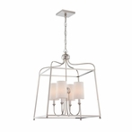 Sylvan Four Light Polished Nickel Chandelier