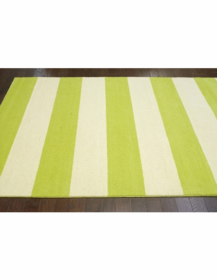 Sylvester Striped Rug in Green