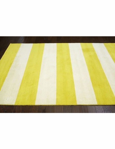 Sylvester Striped Rug in Lemon