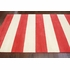 Sylvester Striped Rug in Red