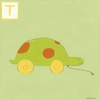 T is for Turtle Canvas Reproduction