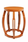 Taboret Stool or Side Table - Orange