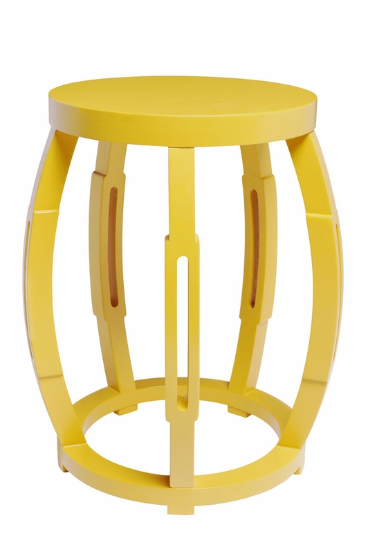 Taboret Stool Or Side Table Yellow By Bungalow 5