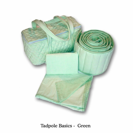 Tadpole Basics Green Crib Bedding - Seven Piece Set