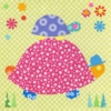 Tag Along Turtle Canvas Wall Art