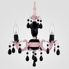 Tahlia Gloss Pink Black Crystal Chandelier
