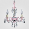 Tahlia Gloss Pink Clear Crystal Chandelier