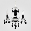 Tahlia Matte White Black Crystal Chandelier