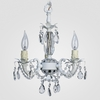 Tahlia Matte White Clear Crystal Chandelier