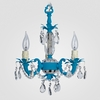 Tahlia Neon Blue Clear Crystal Chandelier