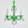 Tahlia Neon Green Clear Crystal Chandelier