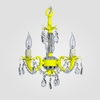 Tahlia Neon Yellow Clear Crystal Chandelier