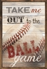 Take Me Out to the Ball Game Vintage Framed Art Print