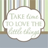 Take Time To Love The Little Things Blue Canvas Reproduction