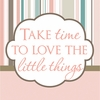 Take Time To Love The Little Things Pink Canvas Reproduction