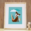 Tall Fox Art Print