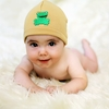 Tan Frog Applique Cotton Hat