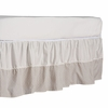 Tan Labyrinth Ivory Twill Crib Skirt
