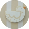 Tan Linen Songbird Drawer Knob