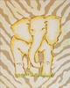 Tan Safari Elephant Hand Painted Canvas