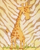 Tan Safari Giraffe Hand Painted Canvas