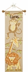 Tan Safari Hand Painted Canvas Growth Chart