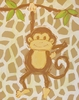 Tan Safari Monkey Hand Painted Canvas