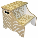 Tan Safari Stool