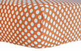 Tangerine Dot Crib Sheet $(+54.00)