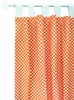 Tangerine Dot Curtain Panels - Set of 2