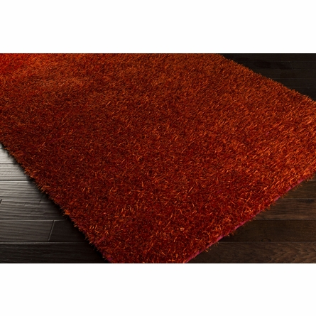 Tangerine Orange Shag Taz Rug