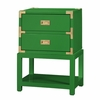 Tansu 2-Drawer Side Table - Emerald Green