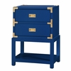 Tansu 2-Drawer Side Table - High Gloss Navy