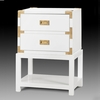 Tansu 2-Drawer Side Table - White