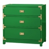 Victoria 3-Drawer Side Table - Emerald Green