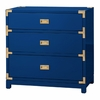 Victoria 3-Drawer Side Table - High Gloss Navy