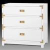 Victoria 3-Drawer Side Table - White
