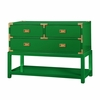 Tansu Console Table - Emerald Green