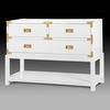 Tansu Console Table - White
