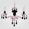 Tara Gloss Pink Black Crystal Chandelier