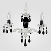 Tara Matte White Black Crystal Chandelier