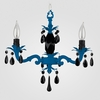 Tara Neon Blue Black Crystal Chandelier