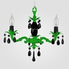 Tara Neon Green Black Crystal Chandelier