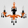Tara Neon Orange Black Crystal Chandelier