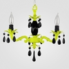 Tara Neon Yellow Black Crystal Chandelier